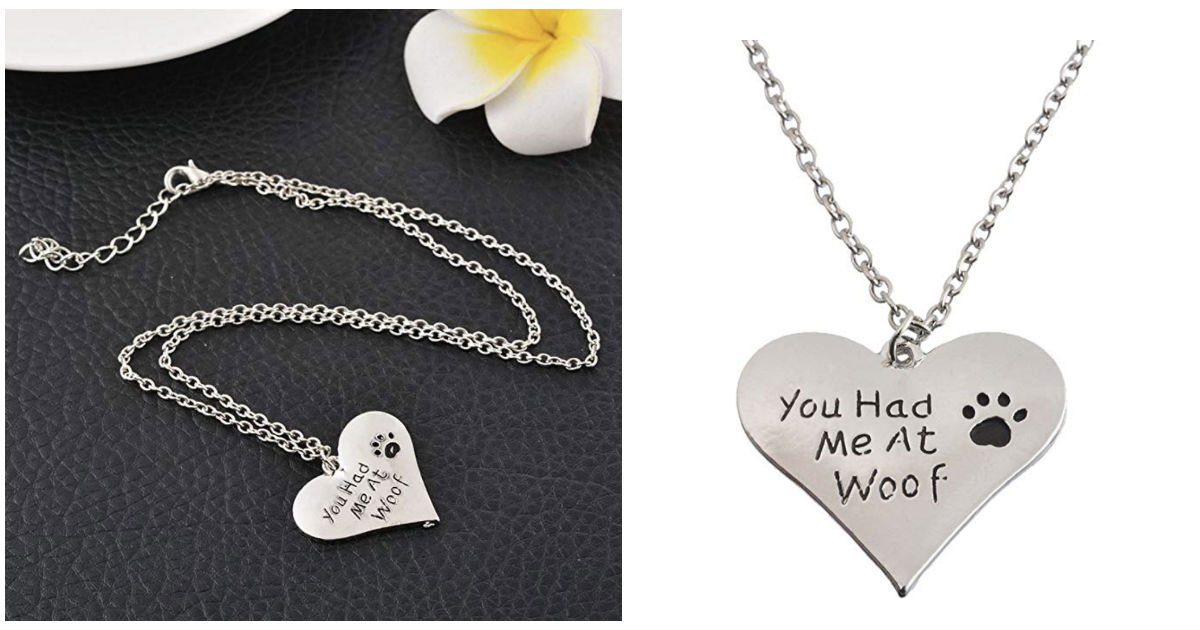 Lover Dog Footprint Necklace Pendant ONLY $3.05 Shipped