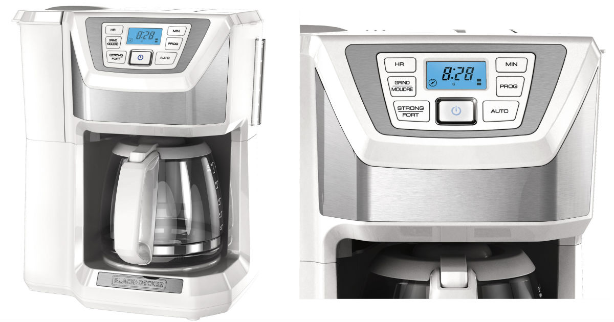 Black+Decker 12-Cup Coffee Maker w/ Built-In Grinder ONLY $31
