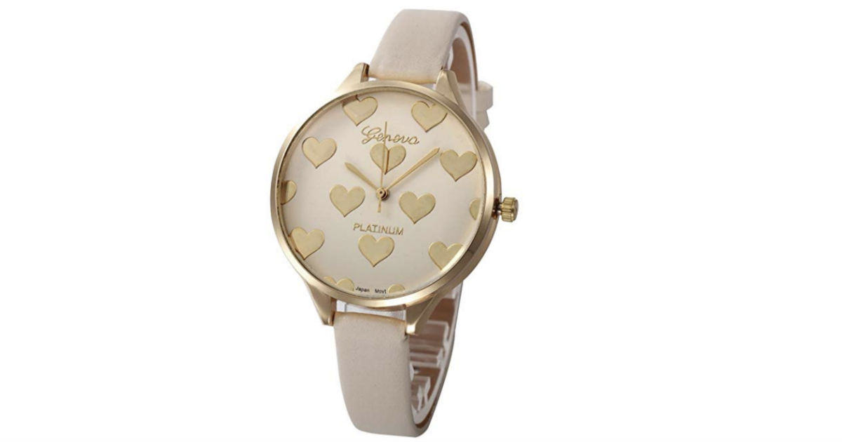 Simple Heart Pattern Watch ONLY $4.89 Shipped
