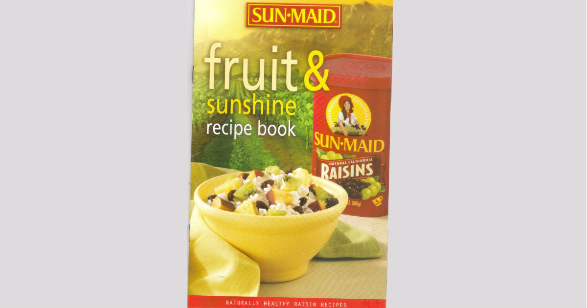 free download of sun maid fruit sunshine recipe book free stuff